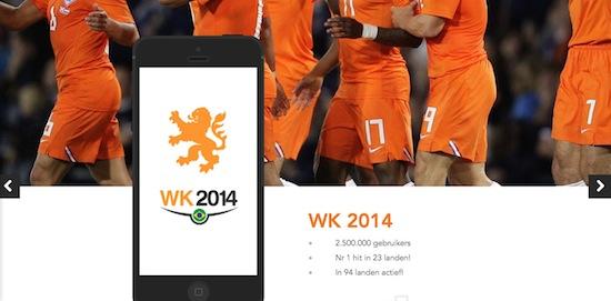 Volg alle stats met WK 2014 app