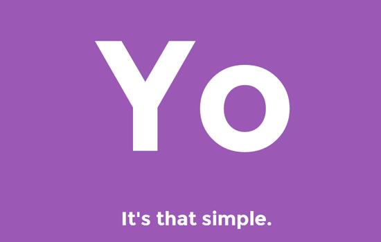 Met Yo is een bericht sturen wel heel simpel