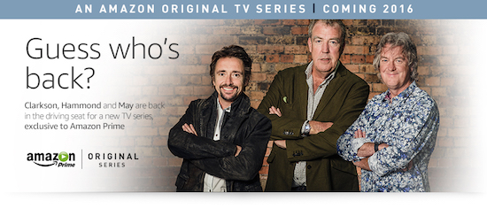 Top Gear-trio naar Amazon