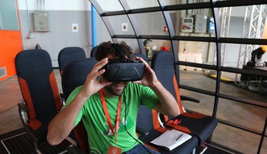 Easyjet VR Oculus vliegtuig