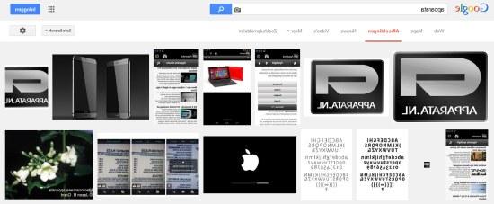 Google spiegelbeeld Apparata