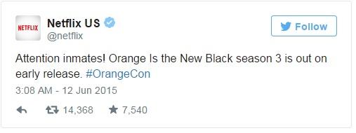 Orange is the new black twitter