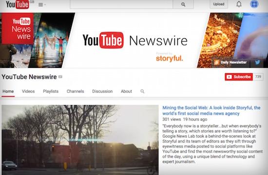 YouTube lanceert nieuwsdienst Newswire