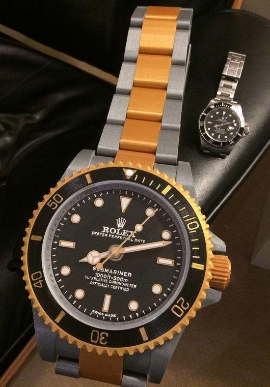 Rolex-replica-naast-echt-exemplaar