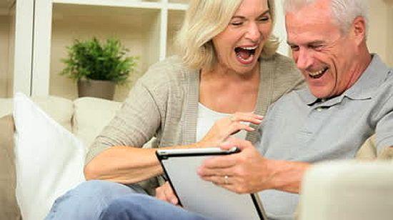 Senior-Tabletgebruik