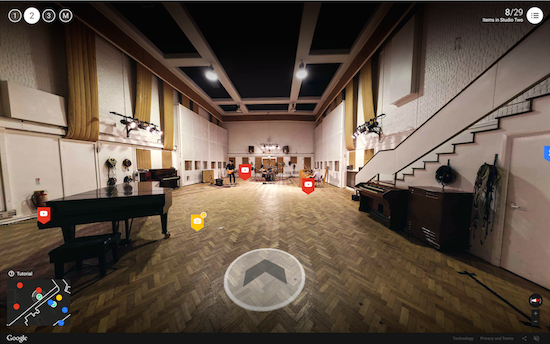 Google laat je de binnenkant van Abbey Road studios zien