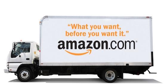 Amazon wil je bestelling printen ín de vrachtwagen
