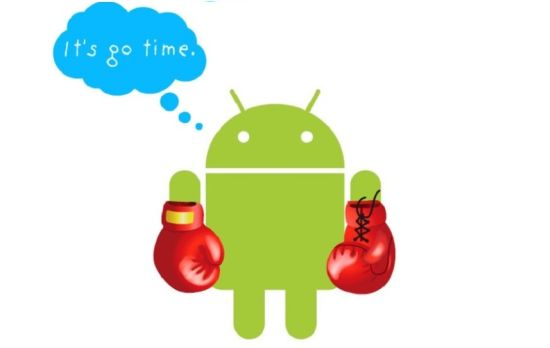 Android logo boxing