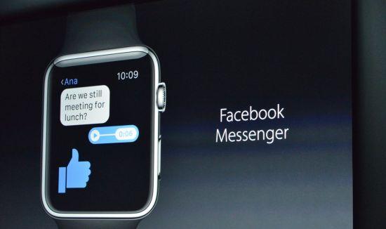 Facebook messenger smartwatch