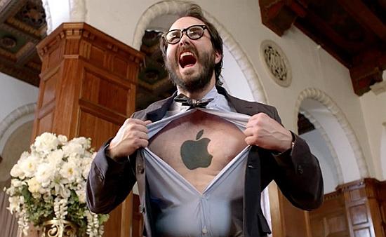 Apple op je borst