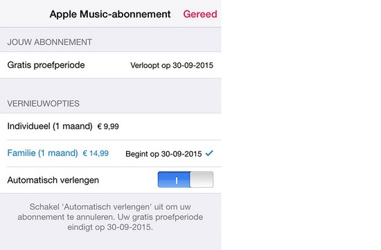 Apple Music opzeggen