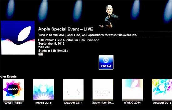 Live Apple kijken