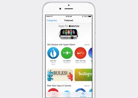 iOS 8.2 is een reclamezuil voor de Apple Watch