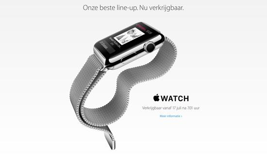 Apple Watch vanaf vrijdag 7.01 uur te koop