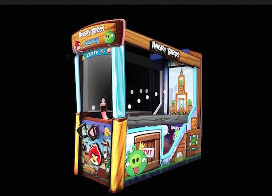 Hebben! Angry Birds op een arcadekast