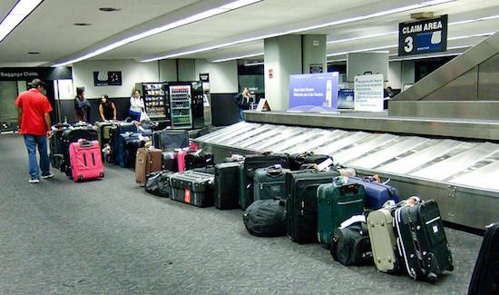 Bagage op het vliegveld