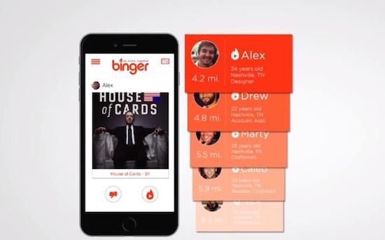 Binger: Tinderdates scoren op basis van je Netflix-kijkgedrag
