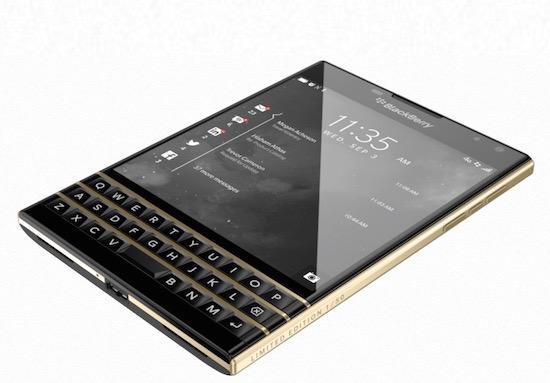 Er komen 50 Blackberry Passports met een goud randje