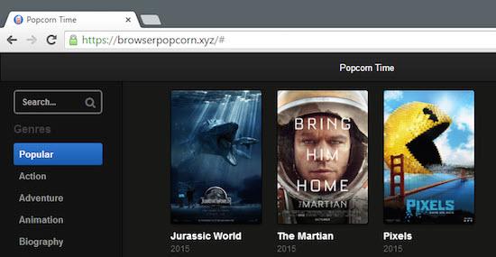 Popcorn Time in je browser is dood