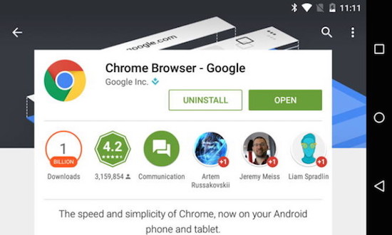 Chrome op Android