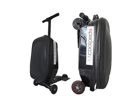 Deze koffer verandert in een elektrische step