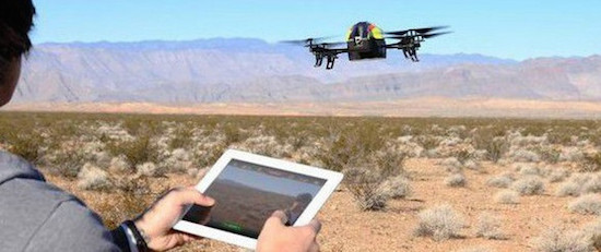 Drone besturen met een tablet