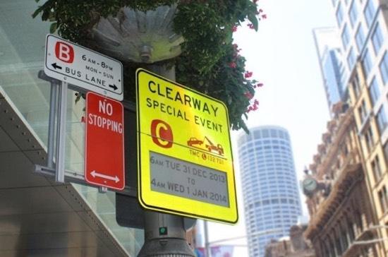 Sydney start met verkeersborden met e-ink