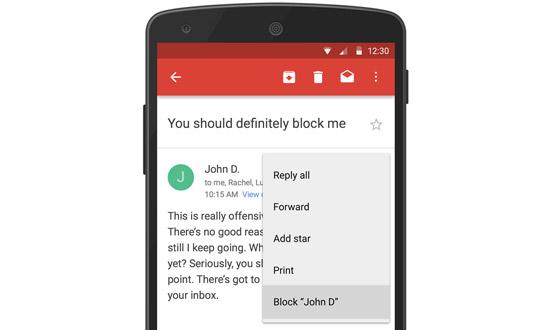 Block contacten in Gmail