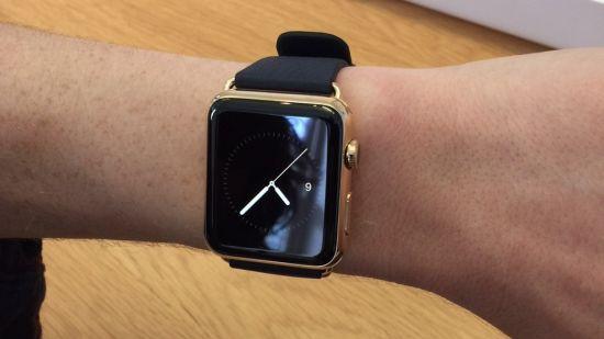 Golden apple watch pols
