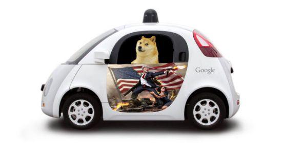 Google Car wolf