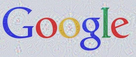 Google logo door de computer gemaakt