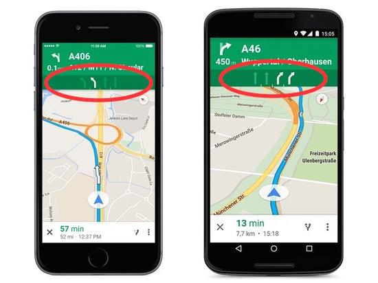 Google Maps steeds handiger voor prutsers in het verkeer
