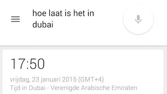 Google Now beantwoord je vragen nu in het Nederlands