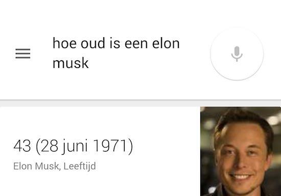 Google heeft nog een beetje moeite met de naam
