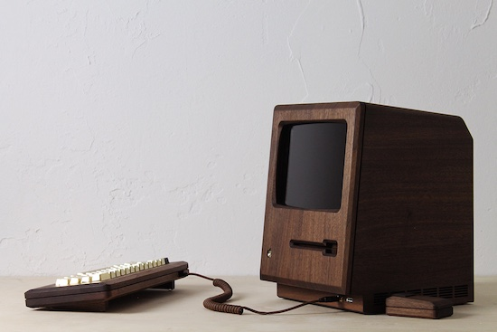Goud, houten Macintosh replica