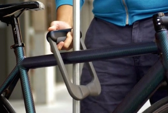 Dit slimme fietsslot open je met je vinger