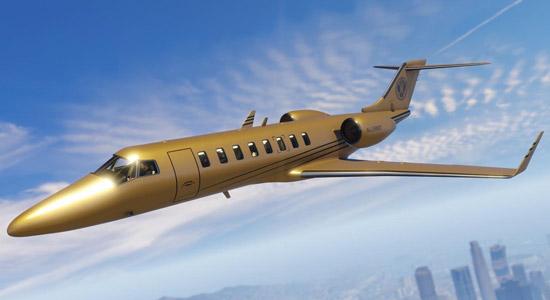 Hang de rijkaard uit met een gouden vliegtuig in GTA Online