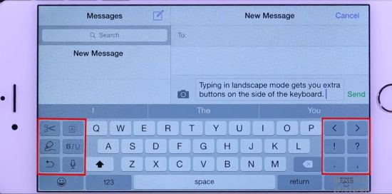 iPhone 6plus Keyboard Features