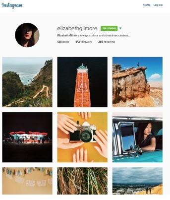 Instagram nieuw design met 3 tegels