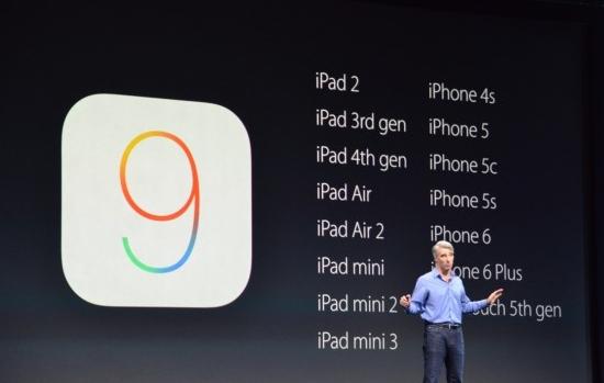 iOS 9 presentatie