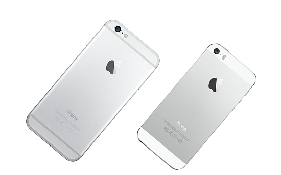 iPhone 6 naast de iPhone 5s