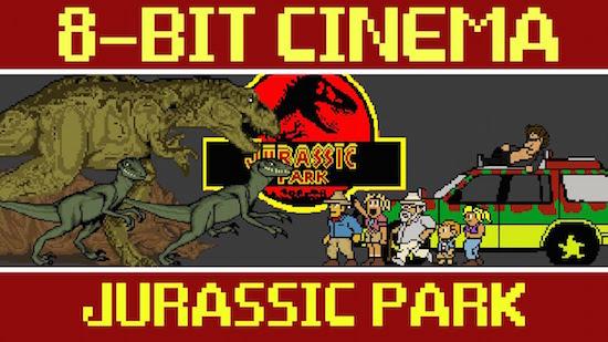Jurassic Park 8bit Cinema