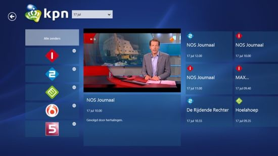 KPN menu screenshot
