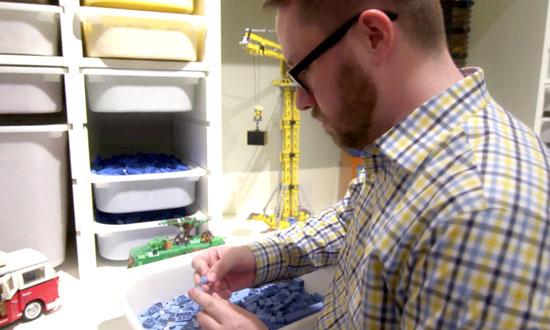 Amerikaan bouwt huis om tot Lego-paradijs