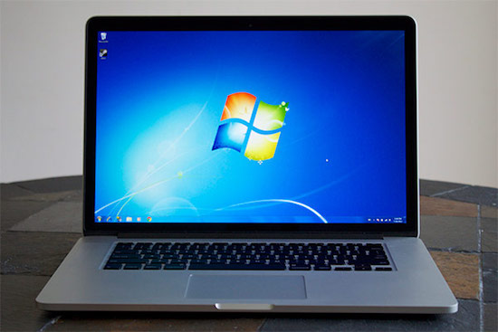 Macbook Pro met Windows 7