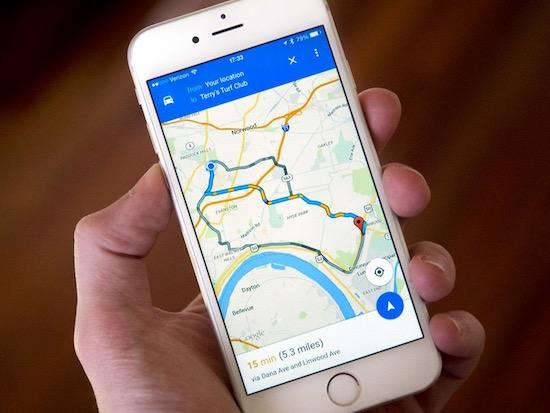 Google Maps op een iPhone