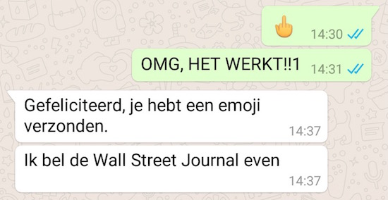 How to: een middelvinger versturen via WhatsApp