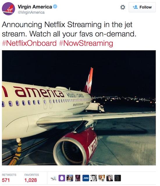Dit is het eerste vliegtuig met Netflix aan boord