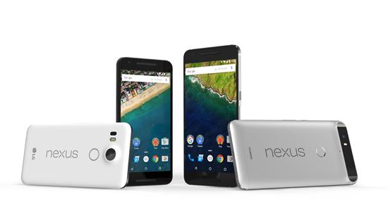 Nexus 5X en Nexus 6P