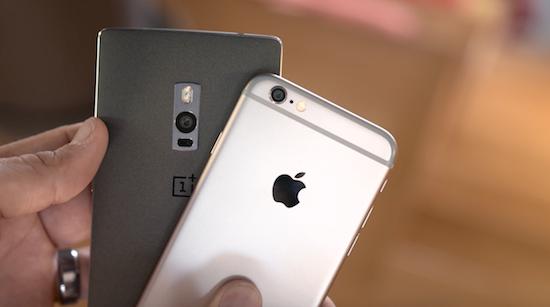 OnePlus 2 vs. iPhone 6